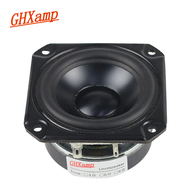GHXAMP 3 INCH Bass Full Range Speaker Woofer 4OHM Waterproof Tweeter Mid Low frequency For Peerless Speaker Bluetooth DIY 40W