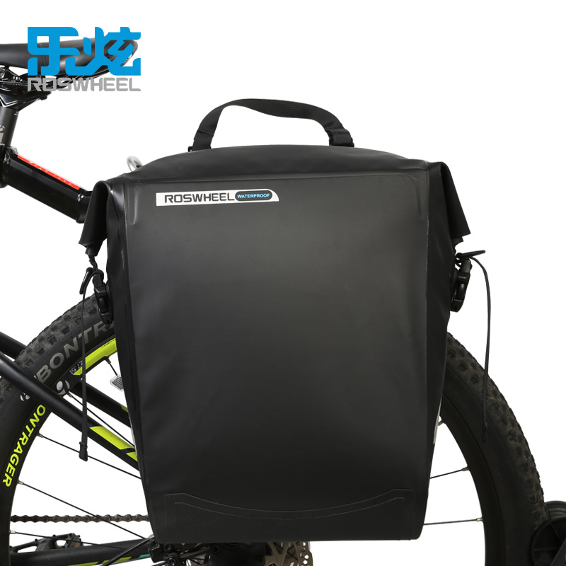 ROSWHEEL DRY SERIES  20L Bike Bicycle rack bags trunk bag Cycling Bags Panniers Full Waterproof PVC Rear Tail pakage Bags wheel up bicycle rear seat trunk bag full waterproof big capacity 27l mtb road bike rear bag tail seat panniers cycling touring