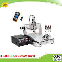 6040Z USB 4 Axis 2 2KW With Limit Switch Mach3 Remote Control Mini CNC Engraving Machine