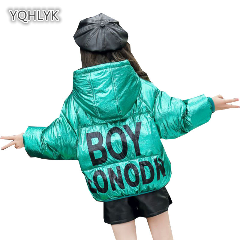 Children winter girls down jacket hooded warm boy coats thicken bread clothes cotton kids casual Outerwear & Coats LK157