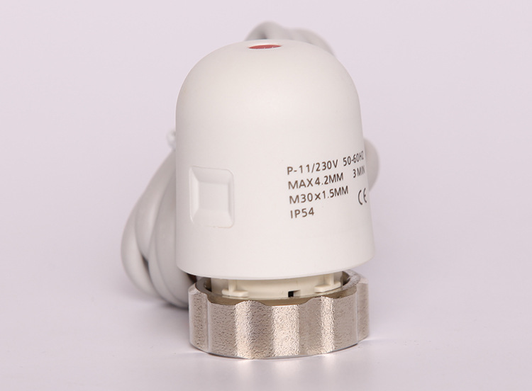 Normally Closed Electric Valve Thermal Actuator For Electric Floor Heating Manifold In Underfloor Heating System  230V 24v normally open normally close electric thermal actuator for room temperature control three way valve dn15 dn25
