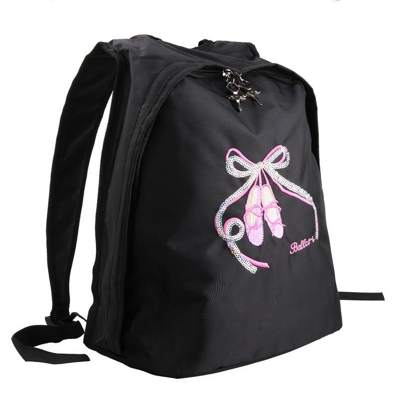 YiZYiF Ballet Bag Dance School Backpack gym bag kids Embroidered Glitter Bowknot Shoulder Bag Ballet Letter Gym Dancing Class