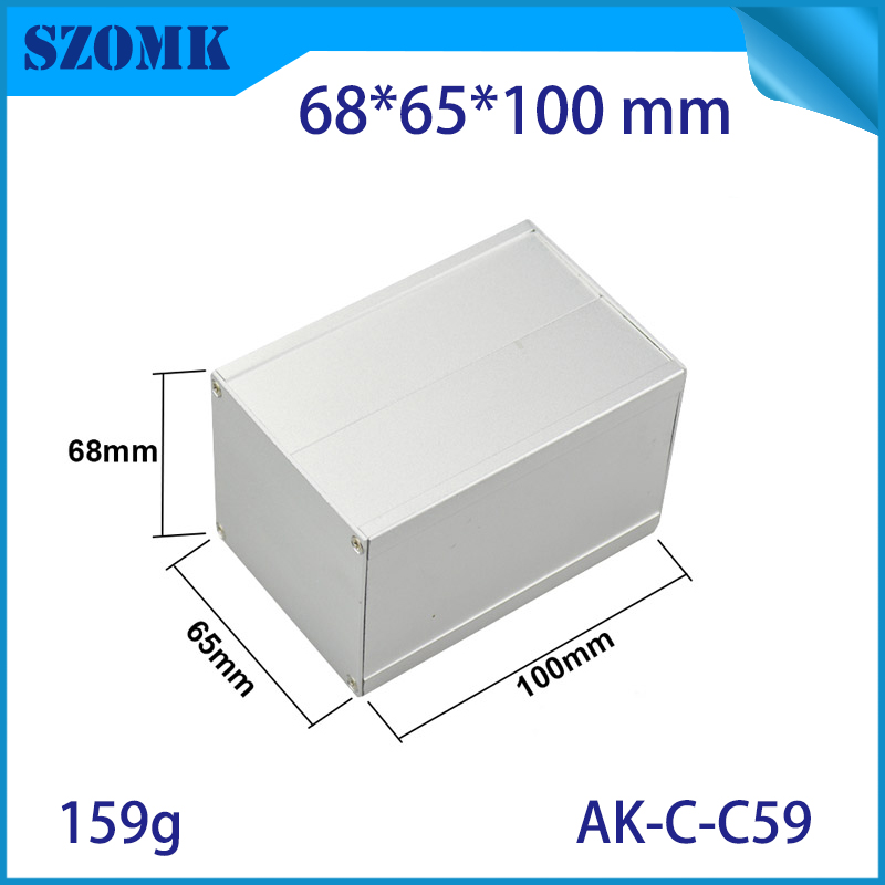 one piece 68*65*100mm DIY PCB aluminum project box case aluminum box enclosure electronics aluminum cases for equipment case mastech ms6812 wire network telephone cable tester line tracker
