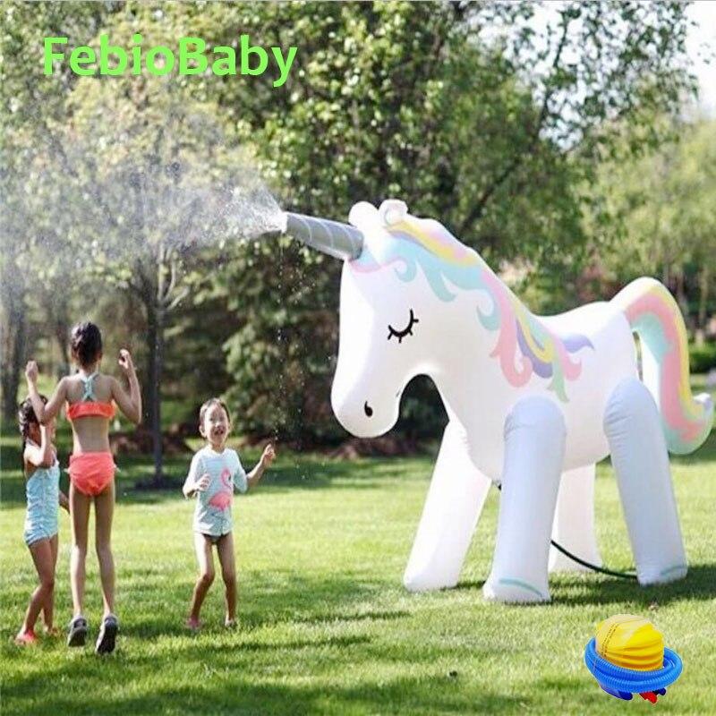 Été maison PVC Animal saupoudrer parc aquatique gonflable en plein air plage jouet enfants jouer eau licorne Spray eau jouets famille jeu