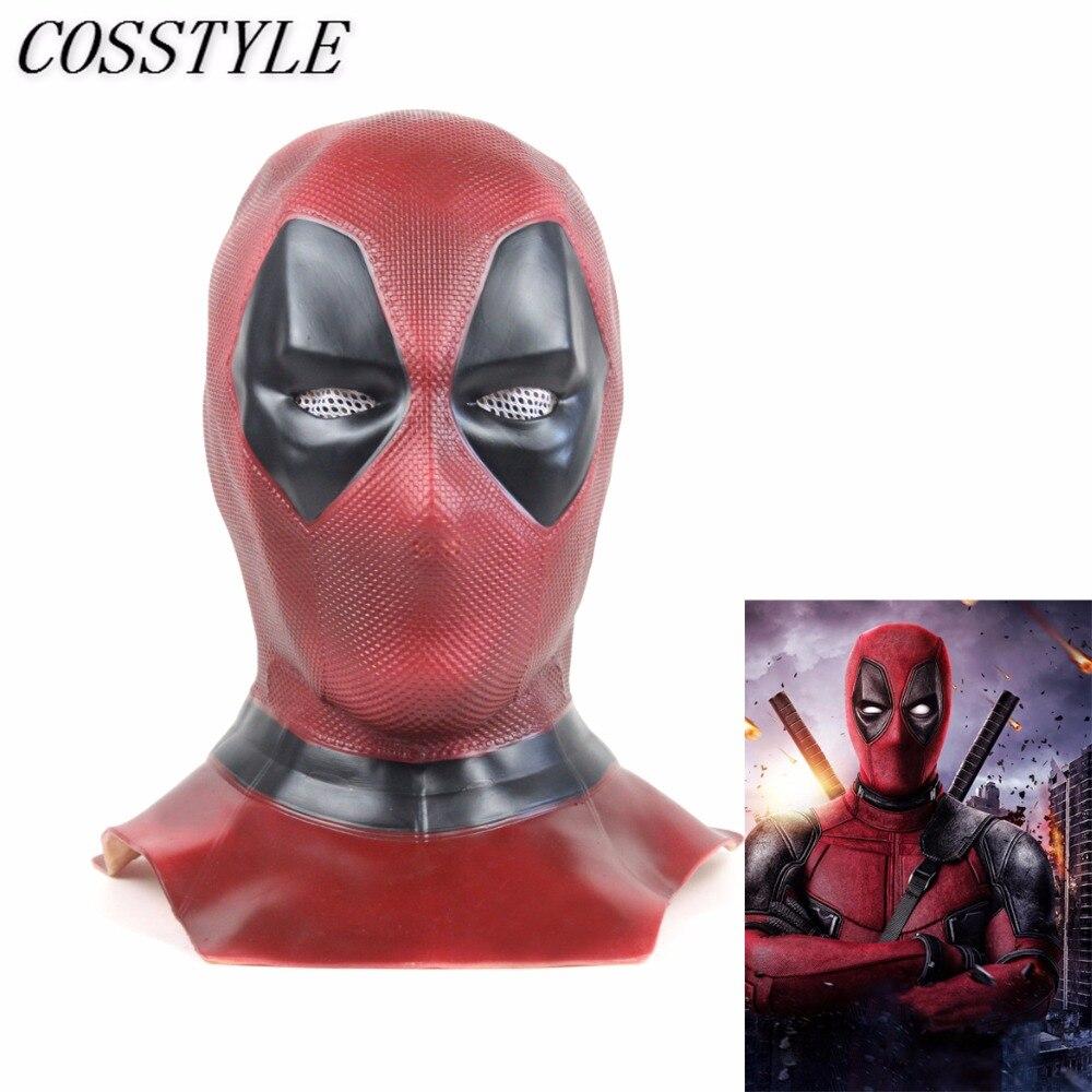 2018 Deadpool 2 Cosplay masque adulte super-héros Deadpool casque pleine tête PVC masque Halloween fête masque film Cosplay accessoires