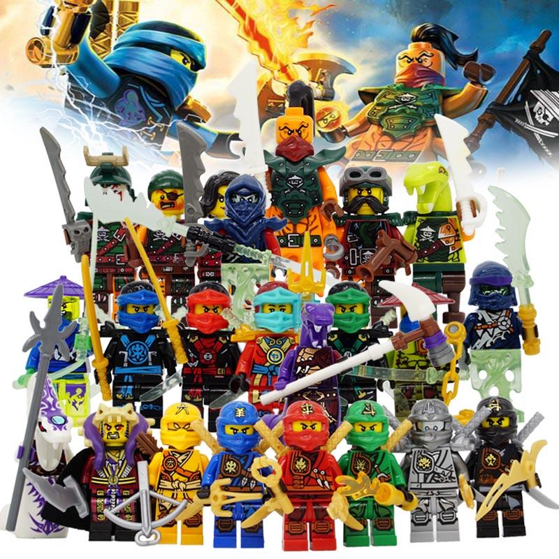 Ninja Kai Jay Zane Cole Lloyd Carmadon With Tornado Motorcycle Compatible with font b LegoINGlys b