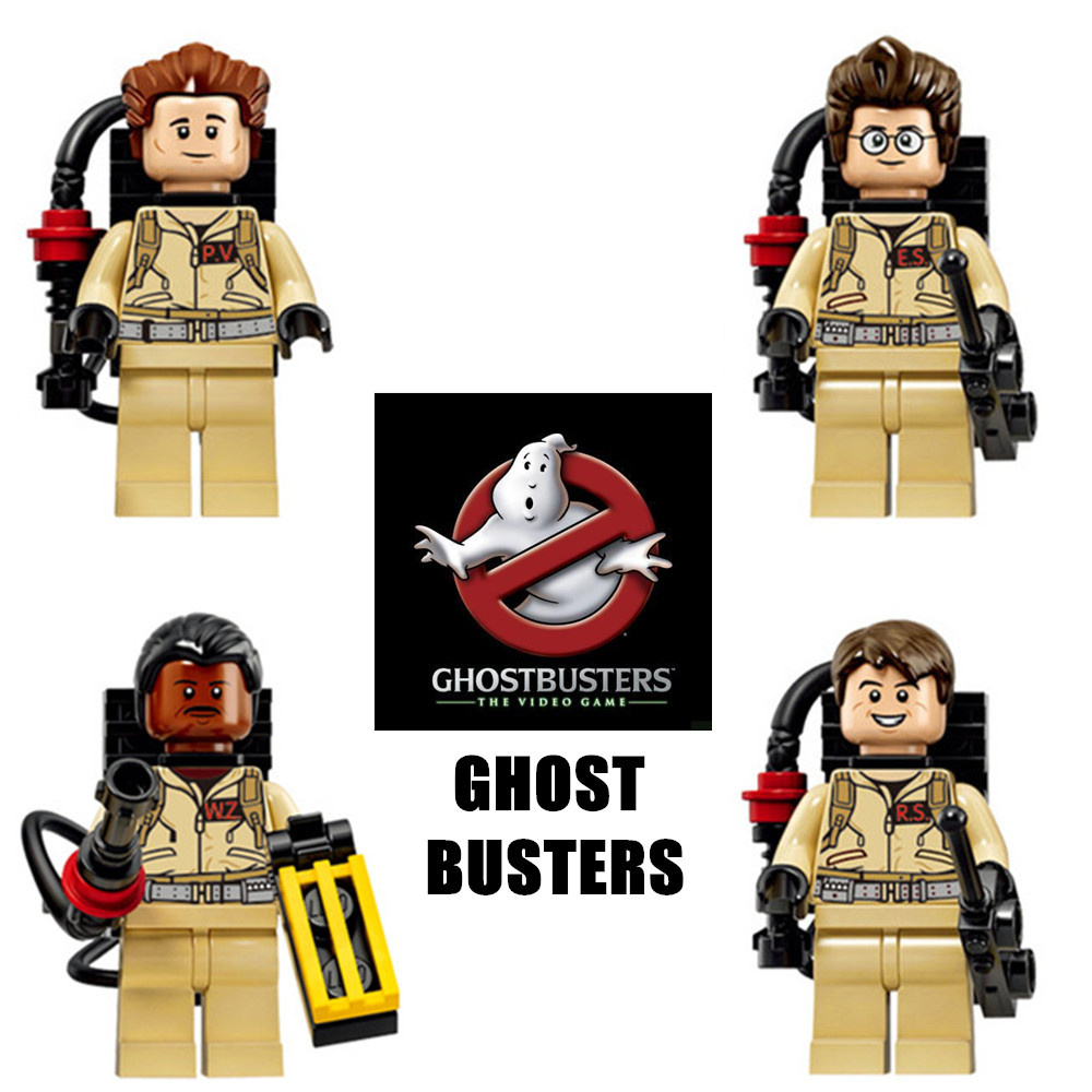 4pcs Ghostbusters Movie Dr. Raymond Dr. Peter DIY Building Bricks Blocks Action Figures Assemble minifig Kids Toys Gifts 1pc imperial death trooper rogue one 75156 diy figures star wars superheroes assemble building blocks kids diy toys xmas