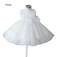Lovely Lace Tulle Pleats Ivory White Real Sample Ball Gown Sleeves Flower Girl Dresses For Wedding
