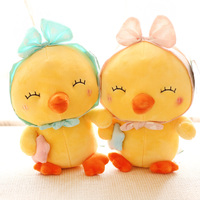 Gift For Kids 1pc 20cm Funny Bowknot Headband Chicken With Star Plush Doll Pillow Novelty Children