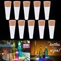 Party Decor 1 pc Em Forma de Cortiça USB Recarregável Luz CONDUZIDA Da Noite Lâmpadas De Garrafas De Vinho