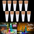Party Decor 1pc Cork Shaped Rechargeable USB LED Night Light Wine Bottle Lamps