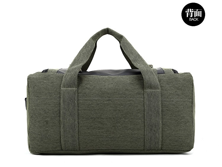 Men Outdoor Casual Canvas Gym Travel Duffel Bag Large Capacity High Quality Messenger Crossbody Shoulder Tote Travel Bags (13)