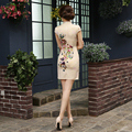 Hot Sale Chinese Traditional Cheongsam Fashion Casual Daily Dress Improved Silkel Egant Slim Qi Pao Female Winter Free Shipping