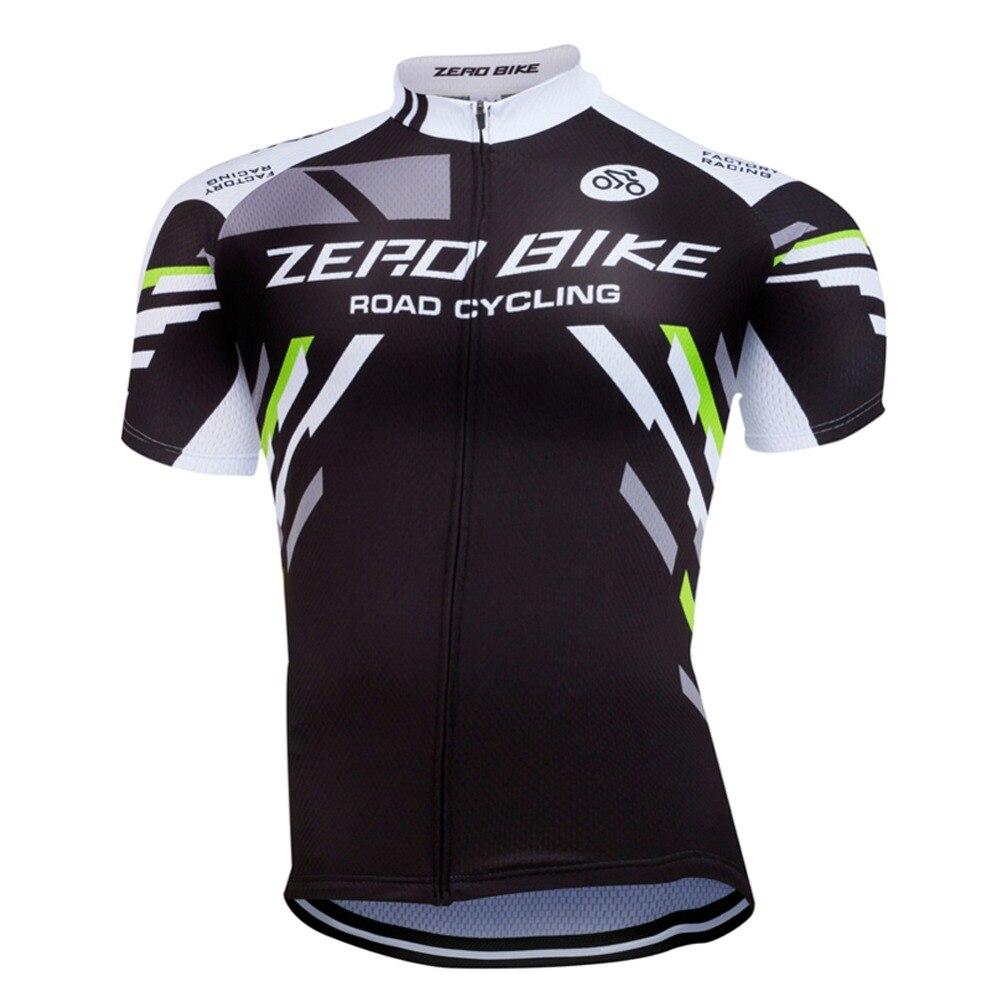 НУЛЕВОЙ ВЕЛОСИПЕД Задействуя Джерси 2017 мужская Черный Короткие Рукава 100% Полиэстер Велоспорт Clothing Ropa Ciclismo M-XXL
