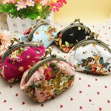 Vintage Women Printing coin Purses girl hasp Zero Wallet Ladies Clutch change purse Female mini money Bag PU Leather Carteira