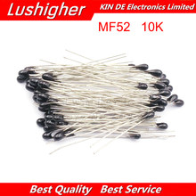 100pcs 10k ohm ntc mf52at 3950 thermistor resistor NTC-MF52AT mf52 10k +/-1% resistor térmico