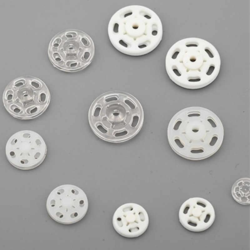 50 Set/partij 7 Mm 10 Mm 12 Mm 15 Mm 18 Mm 21 Mm Plastic Naaien Drukknopen Knoppen Nylon drukknopen Button Craft Kleding Tassen Diy Acc