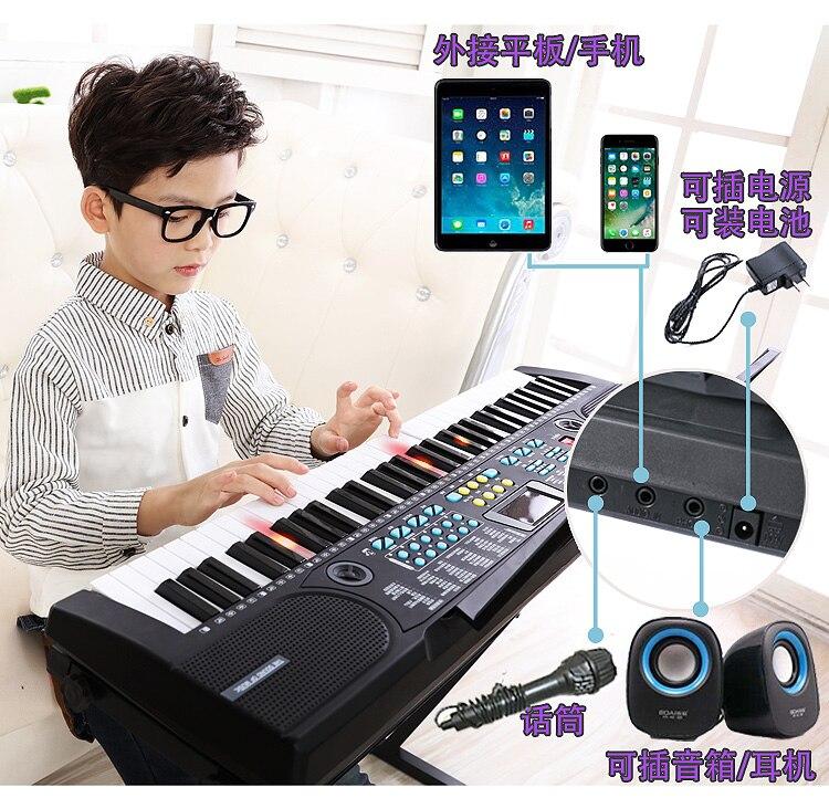 Enfants de clavier débutant garçons et filles 61 touches 1-12 ans multi-fonction intelligente bébé piano instrument de musique jouet