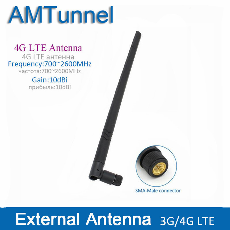 4G LTE external antenna 10dBi 3G 4G router antenna 3G indoor antenna with SMA male connector for Huawei router modem цена и фото