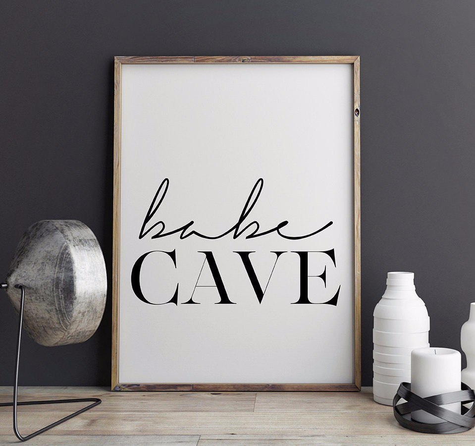 Affiche Scandinave Home Hot Babe Cave Wall Art Scandinavian Poster Affiche Scandinave Babe Cave Typography Print Canvas Painting Bedroom Home Decor