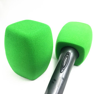 Image 4 - Linhuipad tampa de microfone para estação de tv, tampa de microfone de mão, protetor de vento verde para microfone, transmissão de vídeo