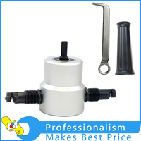 360 Degree Nibble Metal Cutting Double Head Sheet Nibbler Hole Saw Cutter Drill Tool Power Tools