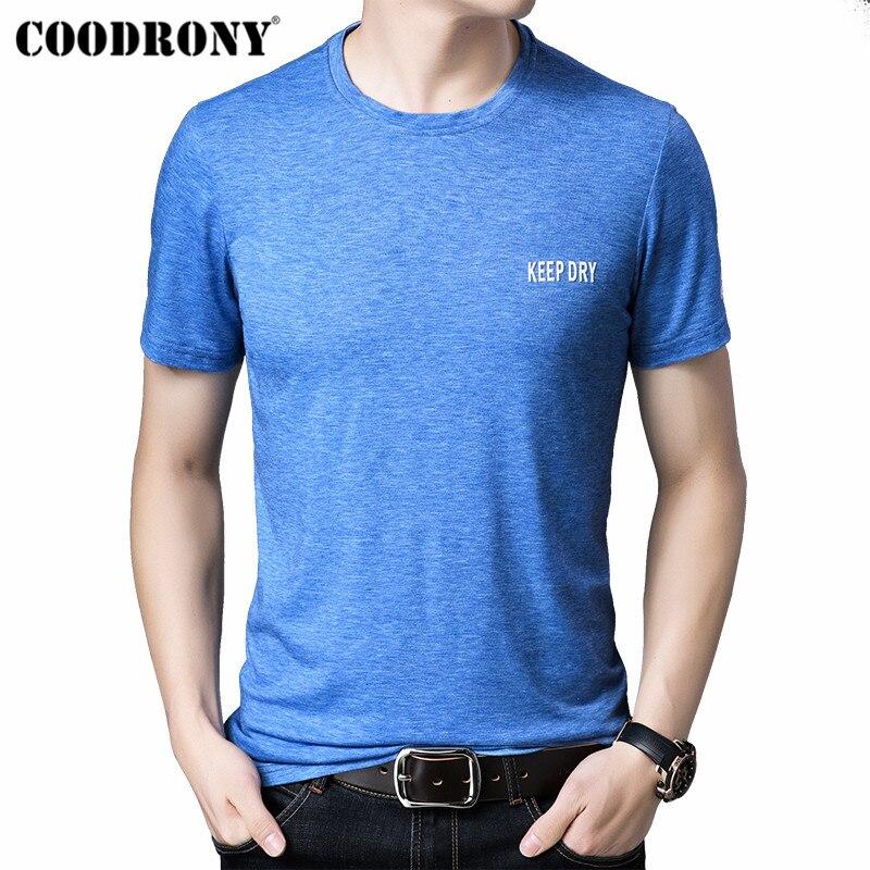 COODRONY Summer Short Sleeve T Shirt Men Streetwear Fashion Casual Tshirt Soft Cotton T-Shirt O-Neck Tee Homme S95148