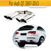 Stainless Steel Car Exhaust Muffler Tips For Audi Q7 RSQ7 Sline Sport Utility 4 Door 07 13 A Style