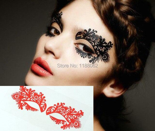 Amato Faccia lace eye shadow sticker lk008 trucco artistico maschera per  ZA48