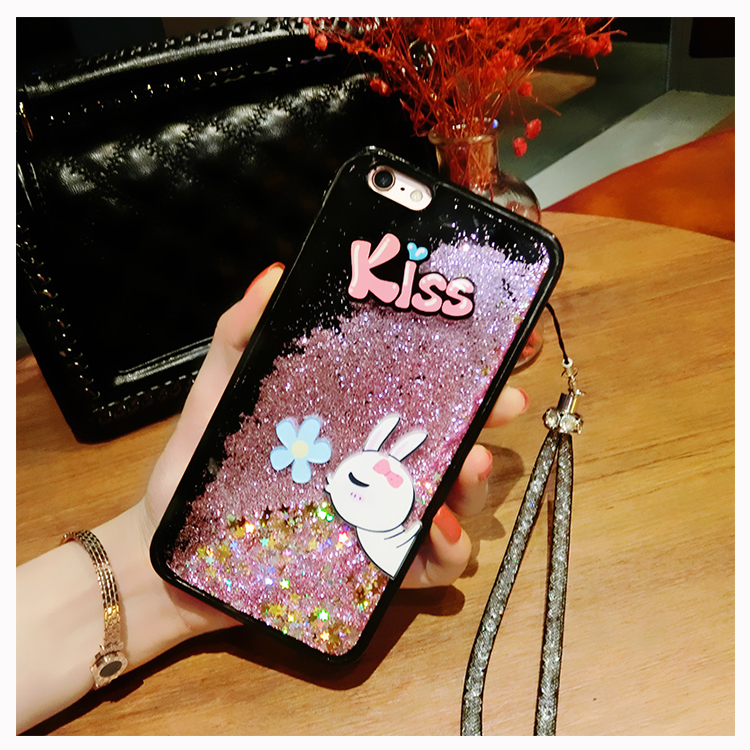 Dynamic Liquid Glitter Silicone Cover for <font><b>ViVO</b></font> V9 V7 Plus X21 Y85 Y79 Y75 <font><b>Y69</b></font> Phone <font><b>Case</b></font> Cute <font><b>3D</b></font> kiss rabbit duck Quicksand <font><b>Case</b></font> image