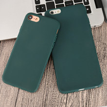 Fashion Dark Green Siliconen Telefoon Case Voor iphone X XR XS Max 5 5S SE 6 6S 7 8 Plus Case Cover Voor iphone 11 Pro Max 2019 Cover(China)