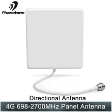LTE 698-2700MHz 4G Indoor directional Panel Antenna N Female Connector for Mobile Signal Booster