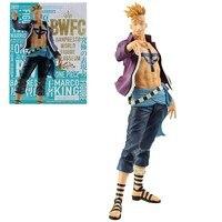 21cm Original Anime one piece PVC Marco Whitebeard Pirates Toy Dolls Gifts