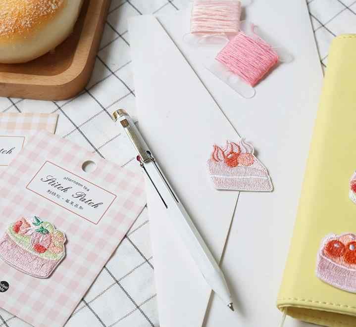 1 шт. сладкий послеобеденный чай Вышивка Патч наклейка одежда шляпа телефон стикер DIY украшения для ежедневника дневник наклейки для рукоделия