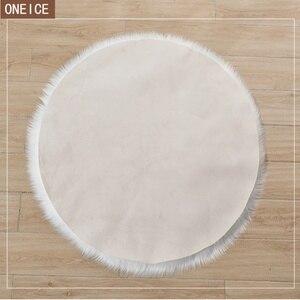 Image 3 - 30*30 centimetri morbido artificiale tappeto di pelle di pecora cuscino della copertura camera da letto artificiale coperta caldo tappeto capelli lunghi sedile pelliccia pavimento mat