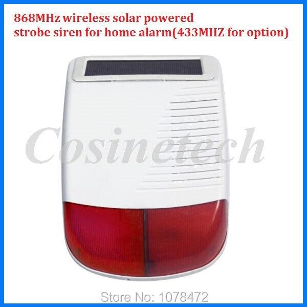 imágenes para 433 MHZ G90B sirena solar WIFI de alarma GSM, 868 MHZ inalámbrico sirena del estroboscópico sirena solares para 7 pulgadas X6 868 MHZ sistema de alarma