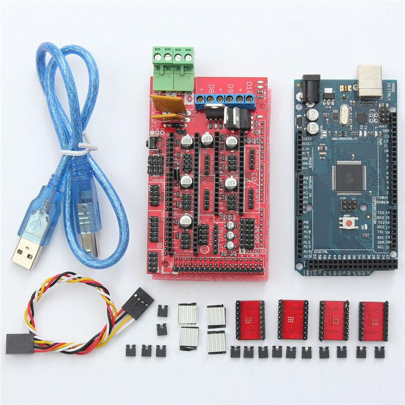 Free Shipping Mega 2560 R3 + 1pcs RAMPS 1.4 Controller + 4pcs A4988 Stepper Driver Module RAMPS 1.4 KIT for 3D Printer kit
