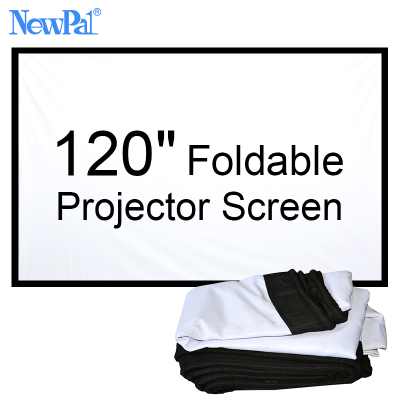 NewPal 120 portable projector screen 16:9 or 4:3 foldable projector screen for outdoor and home theater ...
