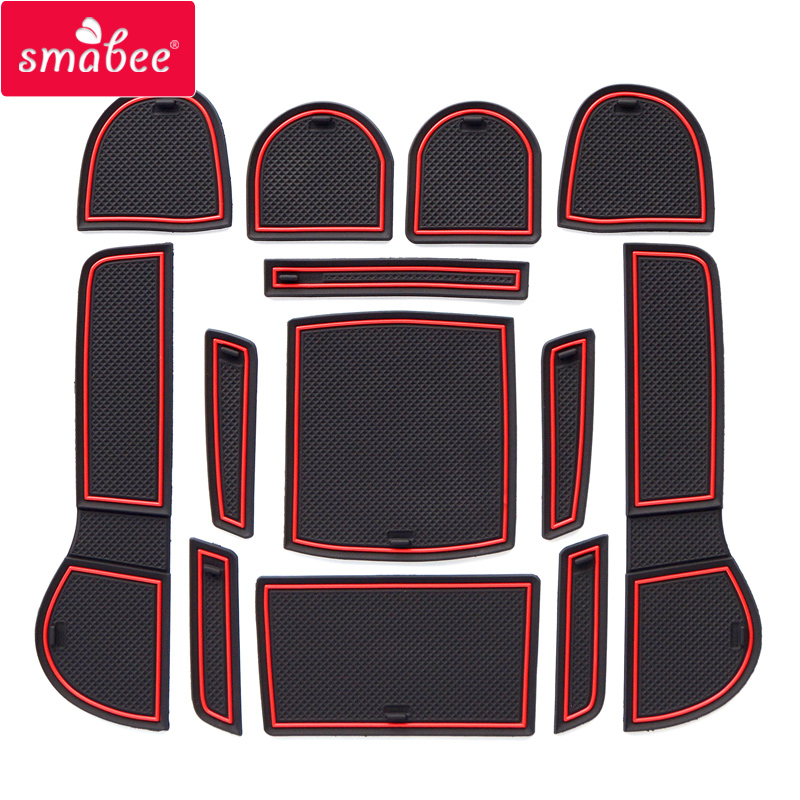 Smabee Gate Slot Pad For SUBARU LEVORG 2016-2018  Interior Door Pad/Cup Dust Mats Water Coaster Non-slip