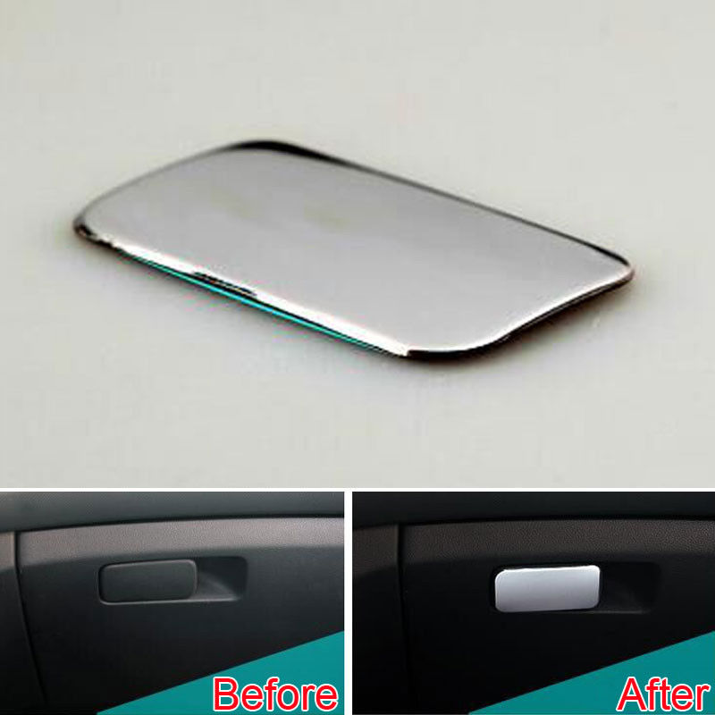 BBQ FUKA 1pc Car accessories Interior Glove Box Door Handle Cover Overlay Gloves box Trim Lid