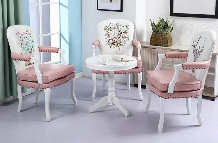 Retro Cafe Dining Chairs Room Chair Covers For Christmas Aliexpress Com American Single Solid Wood Leisure European Style Armrest Study Bedroom Computer Imall