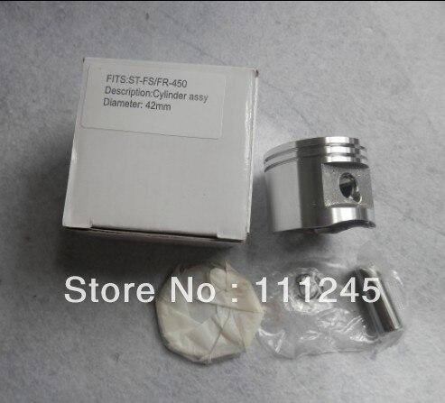 42MM  PISTON KIT FOR ST.FS450 FR450 SP450 FS400 FS480 SP400 CYLINDER ASSEMBLY RING CLIPS PIN ASSY STRIMMER BLOWER POLE SAW PARTS 38mm cylinder kit fits st fs220 fs 220 zylinder block piston ring clip pin kit trimmer zylinder assembly parts 4119 020 1204