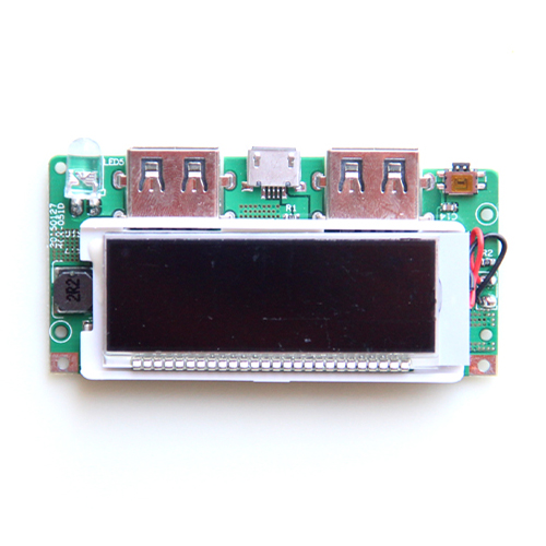High end mobile power boost version of the charging treasure circuit board 3.7V L 5V synchronous rectification LCD display bonatech ultra small mobile power board 3a high efficiency boost module with battery indicator