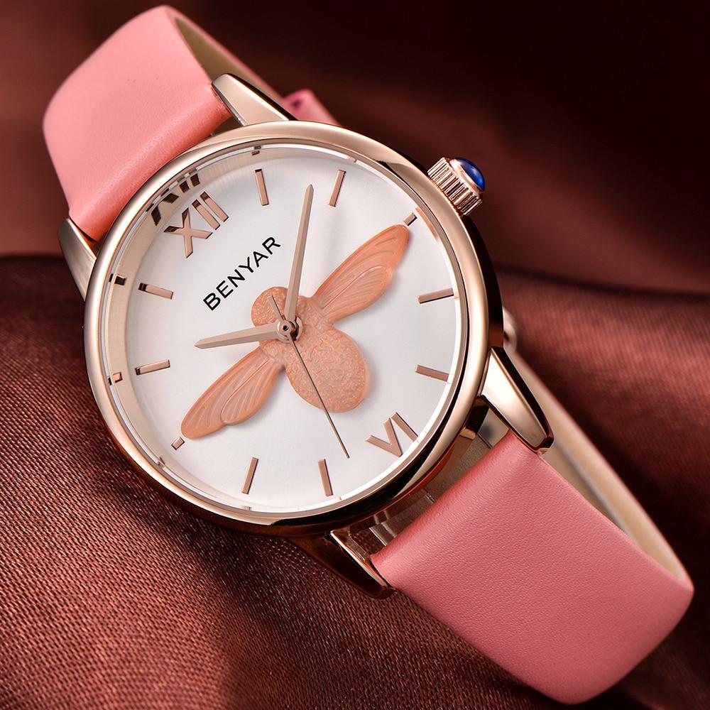 85502b0f151 Mulheres Relógios abelha relógio hora relógio de Women-watches   Saat  Kadinlar