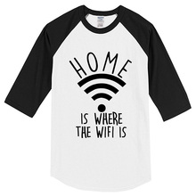 T-shirt Home Is Where The Wifi Is 2017 men's T-shirts summer funny crossfit t shirt men sportswear brand clothing hip hop tops