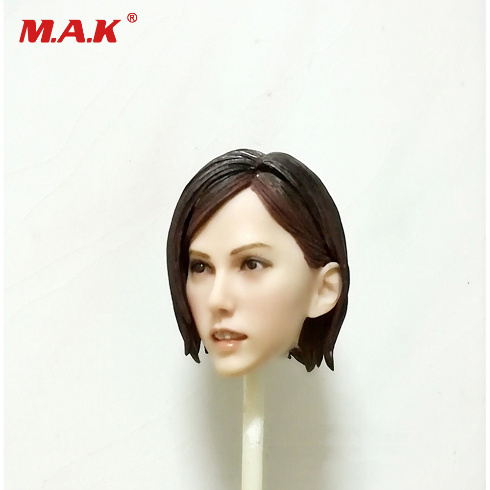 1:6 Scale Female Head Sculpt Mai Shiranui Game Figure Head Carving Brown Hair Pale Color Model Toys For 12 inches Woman Figure 1 6 headplay figure head model brown long hair female head sculpt 12 action figure collection doll toys gift