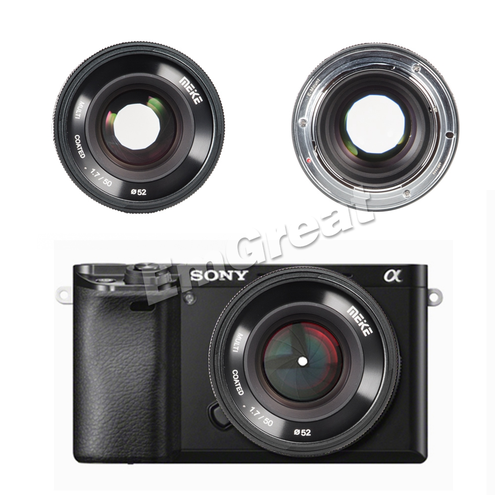Meike 50mm F1.7 Large Aperture Manual Focus Prime Lens for Sony Full ...