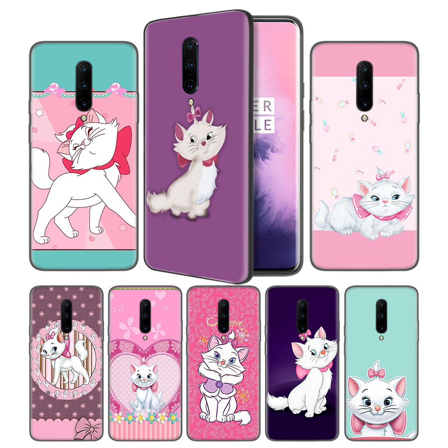 The cartoon AristoCats Marie Cat Soft Black Silicone Case Cover for font b OnePlus b font
