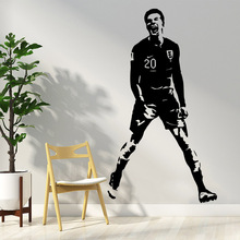 Colorful football player Wall Stickers Home Decor Girls Bedroom Sticker For Living Room Mural Decoration Sticker football sticker book