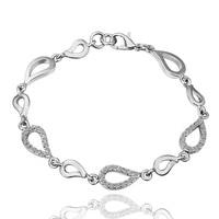 925 sliver Water Drop Connected Bracelet for Women 925 Sterling Silver Fine Jewelry Bizuteria kehribar Gemstone Bracelet jewelry